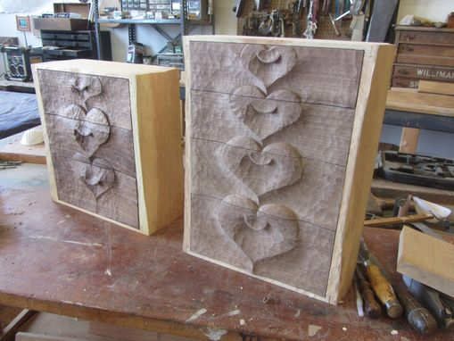 Custom Made Heart Cabinets
