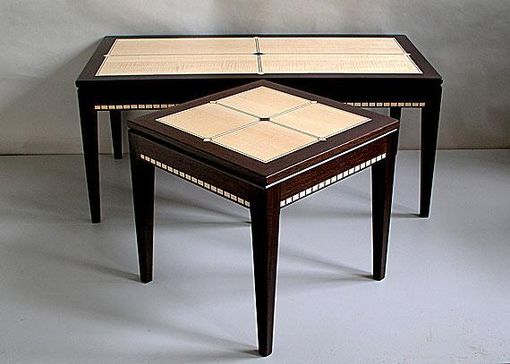 Custom Made Ebony Inlay Tables