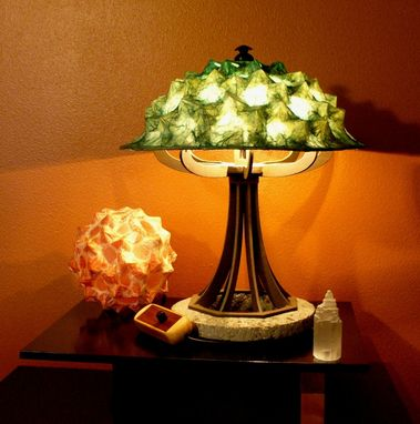 Custom Made Ocean Green Table Lamp