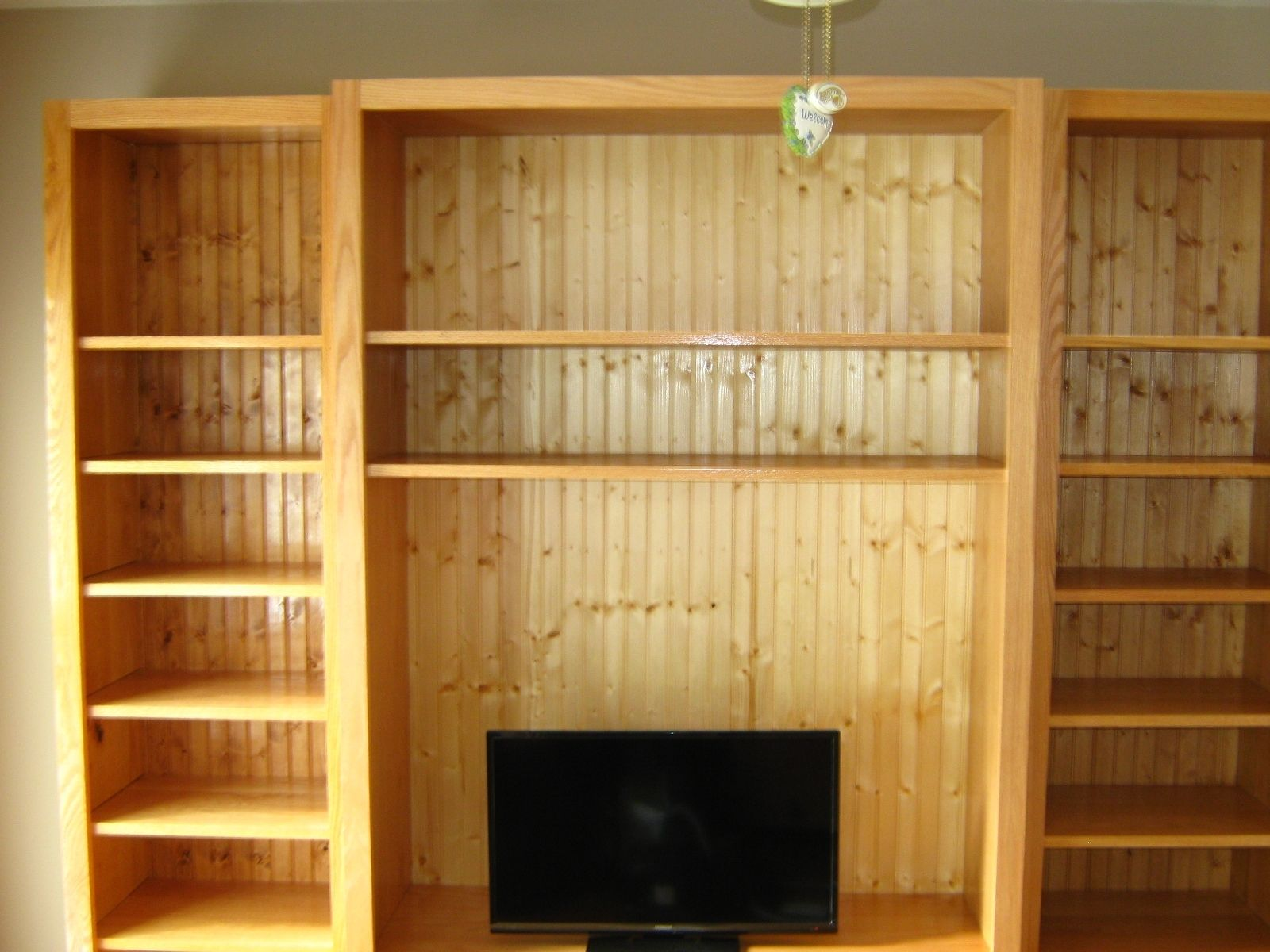 Handmade Entertainment Center Book Shelves By Shaker