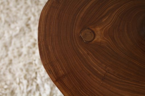 Custom Made Round Cut Live Edge End Table