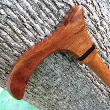 Custom Made Derby Style Walking Cane - Brazilian Cherry And African Blackwood