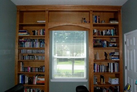 Custom Made Floor To Ceiling Bookcase