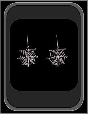 Custom Made Spider Web,Jewelry,Pendant,Necklace,Earrings,Gothic,Goth,Spider,Web,Spider Jewelry,Sterling,Silver,Halloween,Daughter,Sister,Friend,Insect