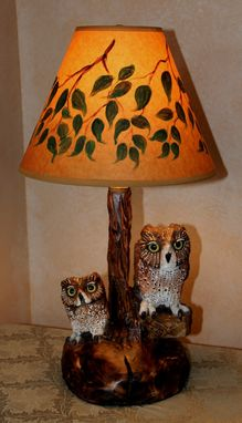 Custom Made Lamp - Custom Carving