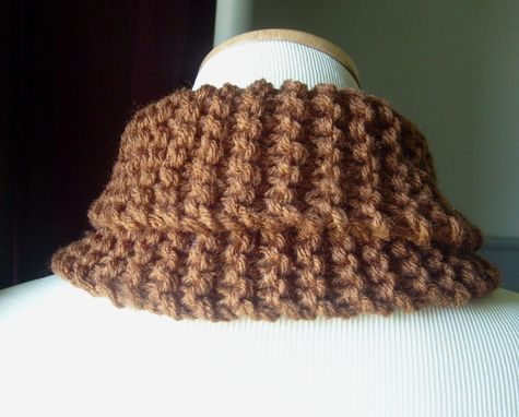 Custom Made The Choclee - Knit Cowl/Neckwarmer - Soft And Snuggly In Chocolate Brown