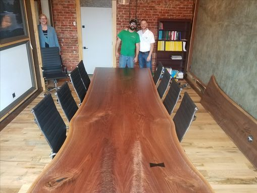 Custom Made Black Walnut Live Edge Table