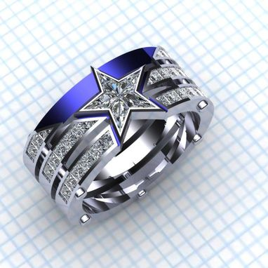 Custom Made Captain / Americas Team Ring- Ladies