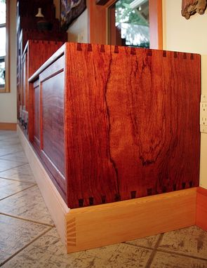 Custom Made Bubinga Step-Tansu