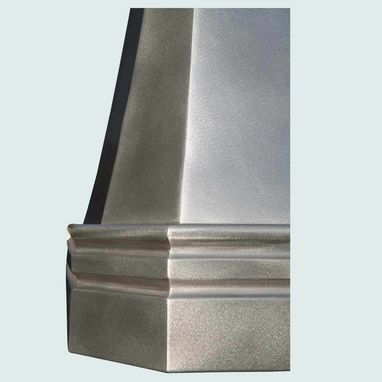 Custom Made Pewter Range Hood With Tall Body