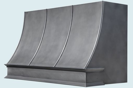 Custom Made Zinc Range Hood With French Band