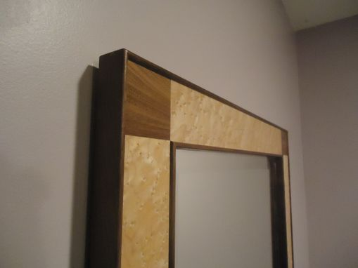 Custom Made Birdseye Maple/Black Walnut Mirror