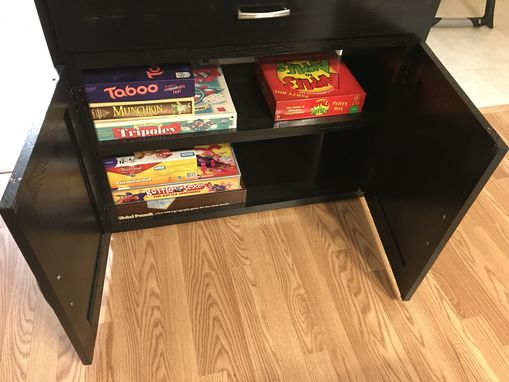 Custom Made Small Bookcase And Game Cabinet