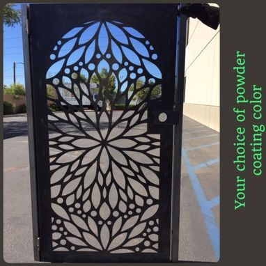 Custom Made Abstract Modern Urban Design Steel Pedestrian Gate