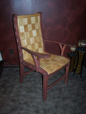 Custom Made Rope And Block Arm Chair