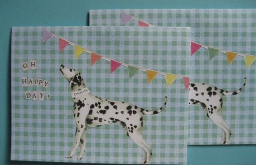 Custom Made Oh Happy Day Dalmatian Dog Notecard Set