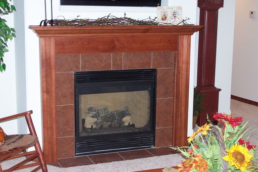 Custom Made Standard Brown Maple Surround- Stained. Parade Home Wausau Wisconsin.