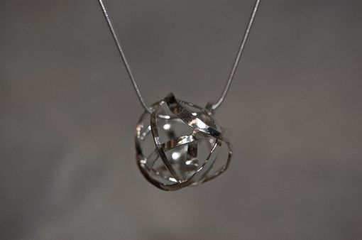 Custom Made Galaxy Pendant Necklace With Faceted Stone