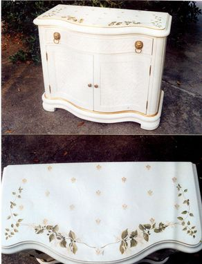 Custom Made Bee And Honeysuckle  Dresser