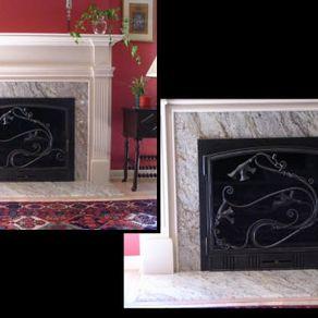 custom fireplace doors screens fireplace set accessories. Black Bedroom Furniture Sets. Home Design Ideas
