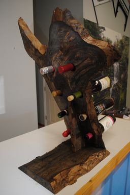 Custom Made Wood Pecker Wine Rack