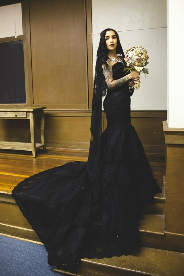 Buy Custom Black Gothic Wedding Dress Made To Order From Wedding