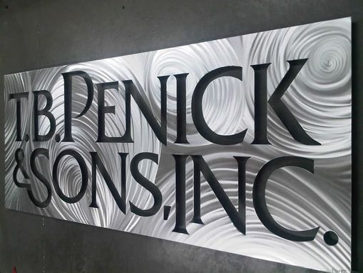 Custom Made Custom Large Company Sign For T.B. Penick & Sons, Inc.