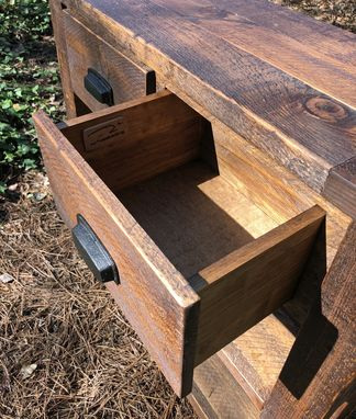 Custom Made Pine Farmhouse Rustic Console Table Made From Rough Hewn Sugar Pine