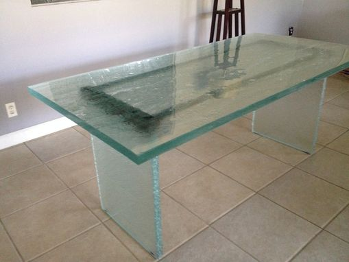 Custom Made Thick Glass Desk