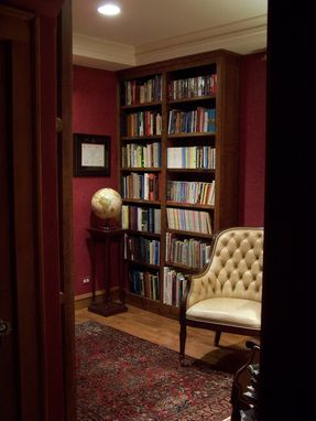 Custom Made Built-In Library Bookcases