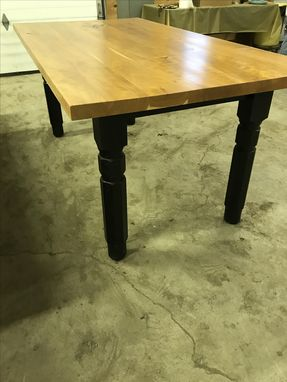 Custom Made Handmade Solid Cherry Top Farmhouse Table.