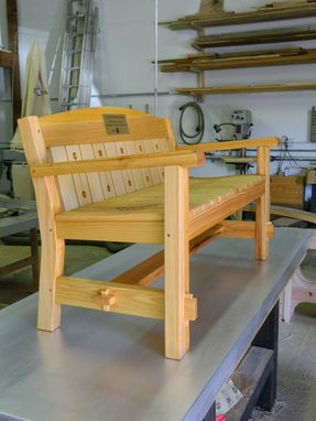 Custom Made Outdoor Bench