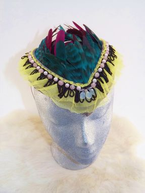 Custom Made Mideival And African Inspired Feather Headpiece