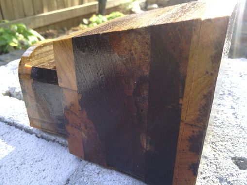 Custom Made Cubism-Inspired Wooden Box