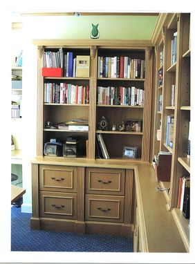 Custom Made Private Library Entertainment Center