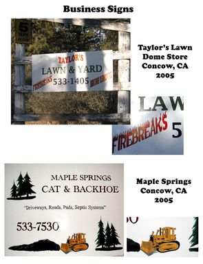 Custom Made Business Signs / Acrylic / Enamel