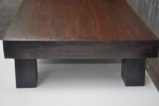 Custom Made Wenge Finish Low Bench Table
