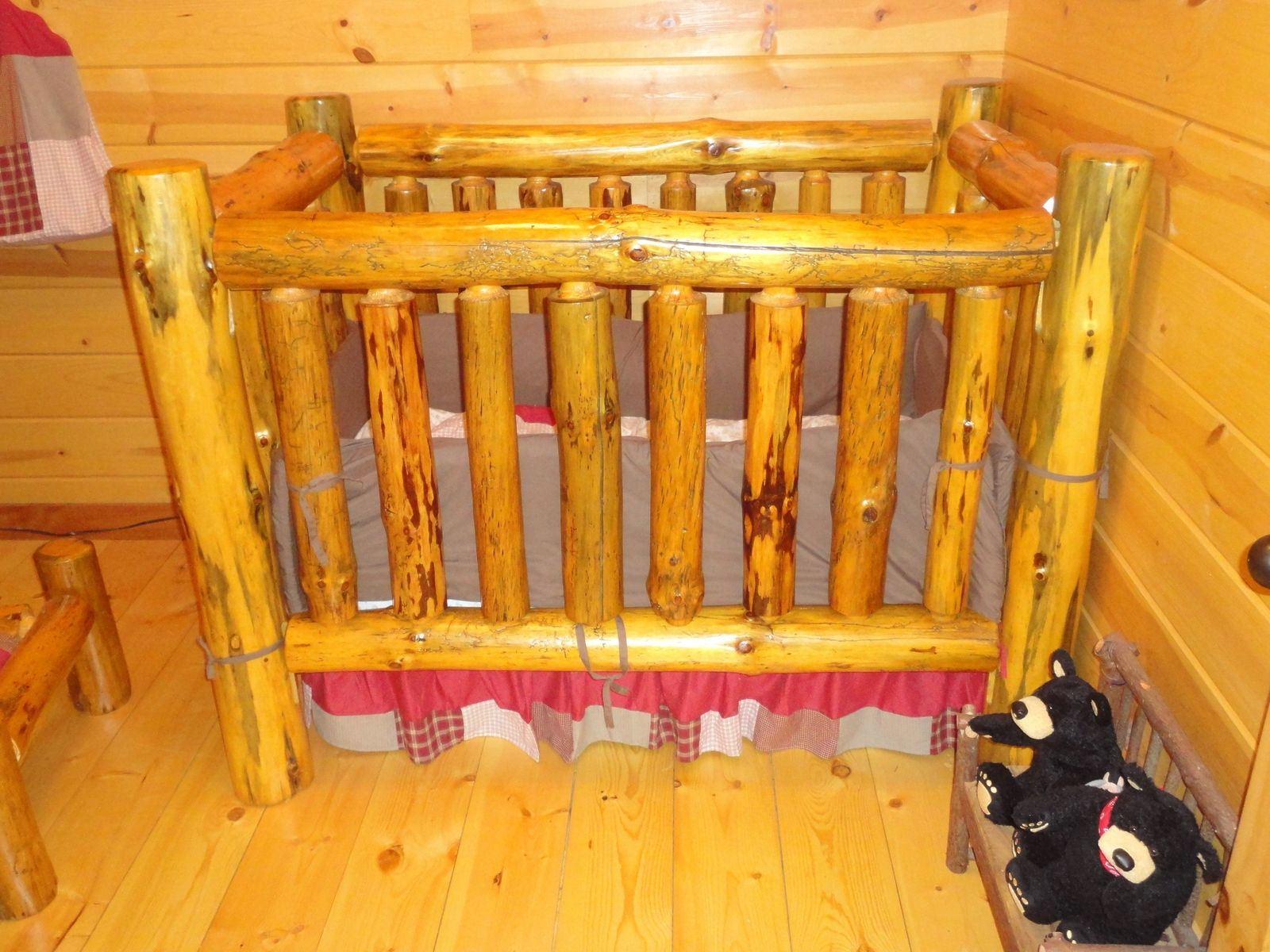 Rustic Pine Log Crib