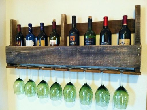 Custom Made The Good Hart Wine Rack, Rustic Wine Rack