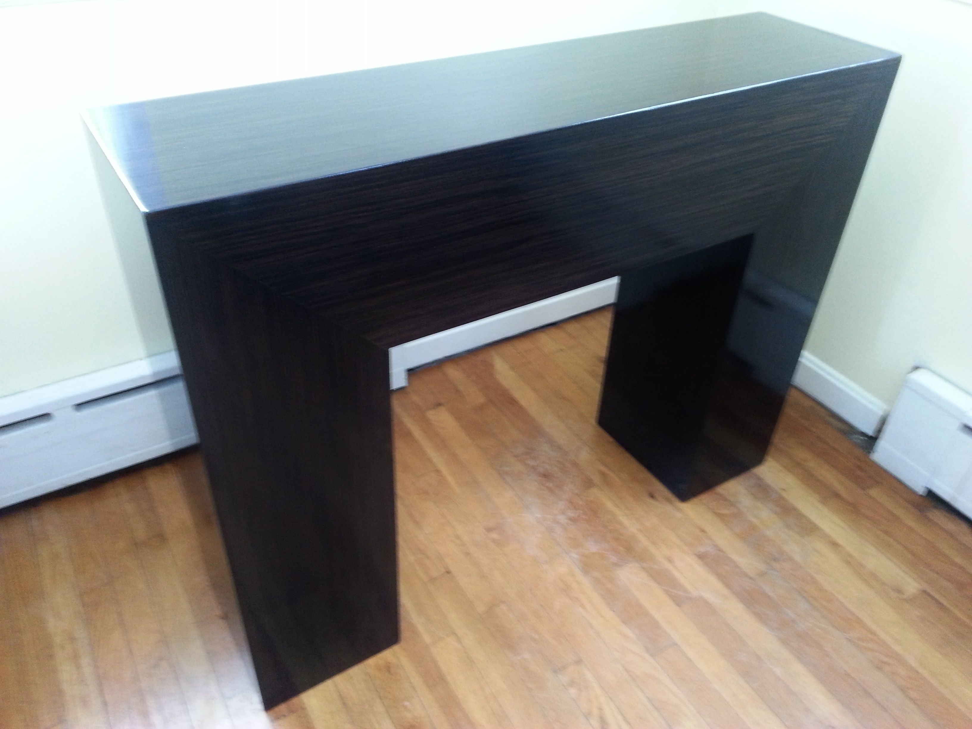 Custom made high gloss ebony console table by custom made custom made high gloss ebony console table geotapseo Image collections