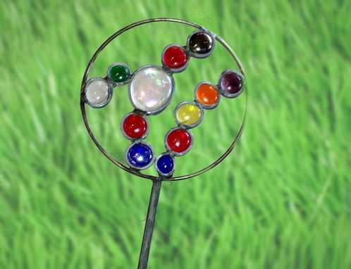 Custom Made Stained Glass Garden Stake