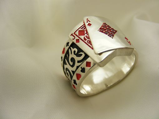Custom Made Black Jack Poker Ring !!