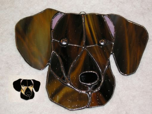 Custom Made Dachshund Stained Glass Sun Catcher
