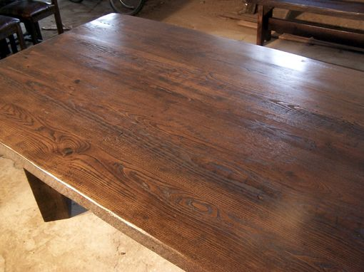 Custom Made Timberframe Thick Plank Farm Table