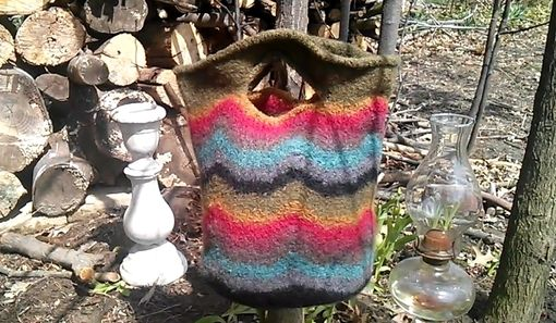 Custom Made Afternoon In Santa Fe Tote Hand Made All Natural Fiber Wearable Art.