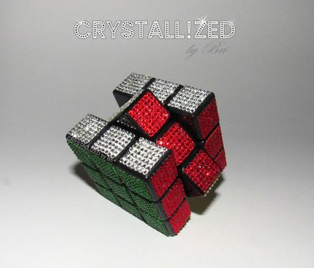 Custom Made Crystallized Rubik's Cube Bling Made With Swarovski Crystals