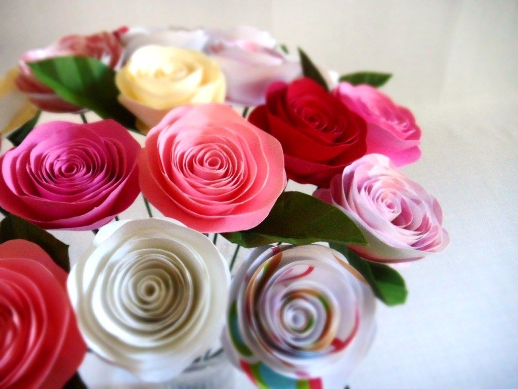 Custom Spiral Paper Roses Bouquet By Dear Betsy Custommade