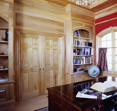 Custom Made Birdseye Maple Home Office In Danbury, Ct