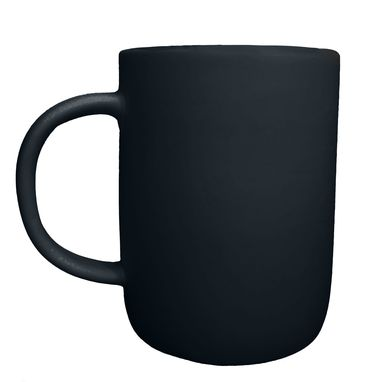 Custom Made Extra Large Matte Porcelain Usa Made Mug- Black