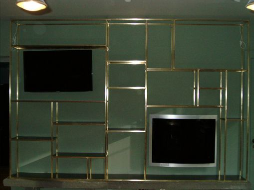 Custom Made Brass Wall Unit